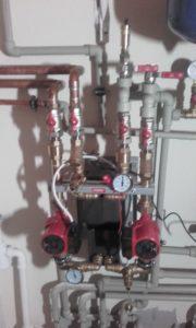 Elementy hydrauliczne w kotłowni 36